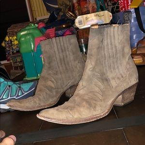 Sartore suede leather western boots